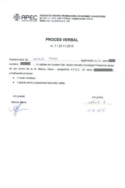 PV 02 predare primire Clinica Hemato-Oncologie